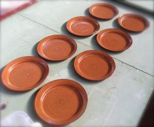 plates after glaze fire